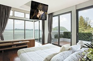 ceiling mounted tv